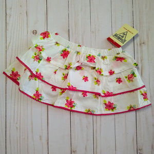 Oshkosh Tiered Floral Skirt Built In Panty 9M